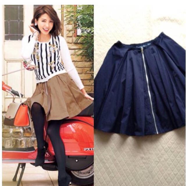 Chesty(チェスティ)の15'チェスティリバーシブルスカート☆紺 レディースのスカート(その他)の商品写真