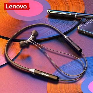 レノボ(Lenovo)のLenovo ワイヤレスイヤホン&専用ポーチ付【ブラック】HE05(ヘッドフォン/イヤフォン)
