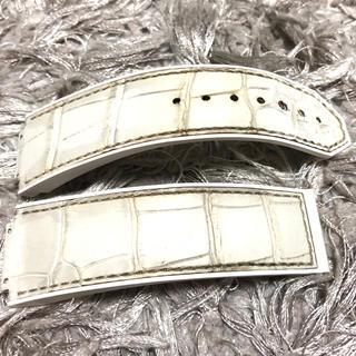 ウブロ(HUBLOT)のまーころ様 ウブロ ベルト 24mm 艶消しホワイト アリゲーター 格安(レザーベルト)