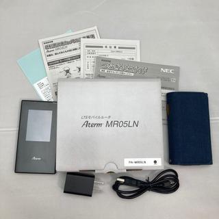 エヌイーシー(NEC)の美品 Aterm モバイルルーター MR05LN NEC Wi-Fi LTE(スマートフォン本体)