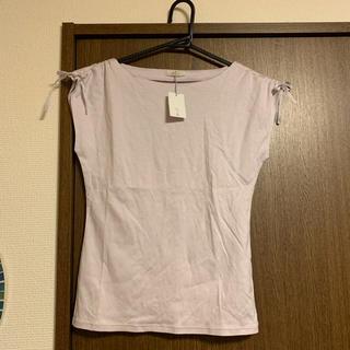 エフデ(ef-de)の新品タグ付き ラベンダーTシャツ(Tシャツ(半袖/袖なし))
