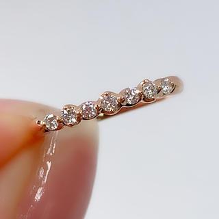 スタージュエリー(STAR JEWELRY)のスタージュエリー リング  指輪 ピンキー ダイヤ  0.10 K18PG(リング(指輪))