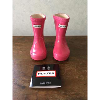 ハンター(HUNTER)のHUNTER ハンター レインブーツ 長靴 キッズ ピンク UK5 約11cm(長靴/レインシューズ)