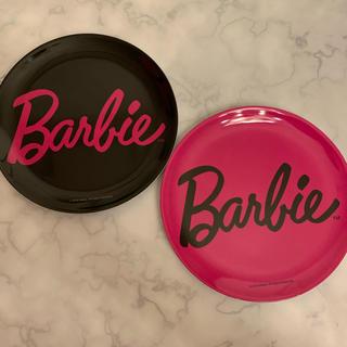 barbieメラミンプレート♡2点セット♡インテリア♡ディスプレイにも♡ピンク黒