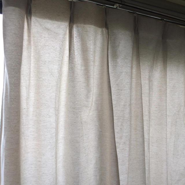 MUJI (無印良品)(ムジルシリョウヒン)の無印カーテン 100×178 アイボリー インテリア/住まい/日用品のカーテン/ブラインド(カーテン)の商品写真