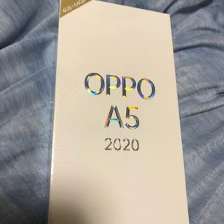 ラクテン(Rakuten)の限定値下げ oppo a5 2020 GR グリーン 新品未開封 simフリー(スマートフォン本体)