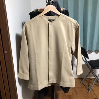 ハレ(HARE)のHAREノンカラージャケット7分袖sサイズ(テーラードジャケット)
