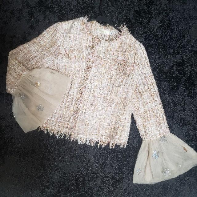 Chesty(チェスティ)のツイード チュール ジャケット ノーカラー CHANEL チェスティ レディースのジャケット/アウター(ノーカラージャケット)の商品写真