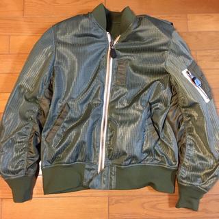 アヴィレックス(AVIREX)のKawasaki✖️AVIREX MA1  メッシュジャケット ma-1 LL(ライダースジャケット)