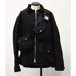 サカイ(sacai)のsacai Cotton Oxford Blouson BLACK size 2(ミリタリージャケット)