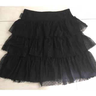 アニエスベー(agnes b.)のアニエス・ベー スカート 黒 ブラック 発表会、フォーマルにも(スカート)