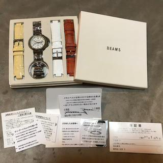 ビームス(BEAMS)のBEAMS レディース 4種ベルト付き腕時計 (スワロフスキーフレーム付き)(腕時計)