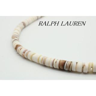 ラルフローレン(Ralph Lauren)の【U829】RALPH LAUREN シルバー シェル ビーズ ネックレス(ネックレス)