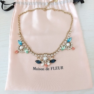 メゾンドフルール(Maison de FLEUR)のMaison de FLEUR  パール&ビジューネックレス(ネックレス)
