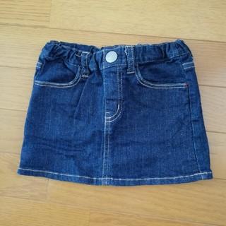 ダブルビー(DOUBLE.B)のダブルビー デニムスカート 100サイズ(スカート)