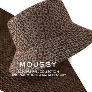 マウジー(moussy)のマウジー モノグラムバケットハット 帽子 ブラウン(ハット)