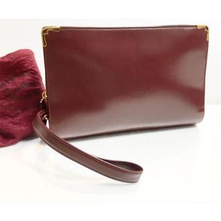 カルティエ(Cartier)のカルティエ 仏製 セカンドバッグ エナメルレザー ボルドー(セカンドバッグ/クラッチバッグ)