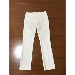 フォクシー(FOXEY)のADEAM ホワイト パンツ サイズ0(カジュアルパンツ)