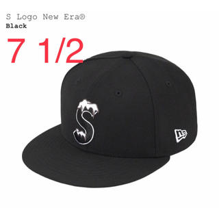 シュプリーム(Supreme)のSupreme S Logo New Era ブラック BLACK(キャップ)