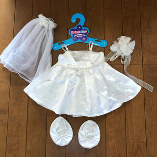 ダッフィー(ダッフィー)のビルドアベアコスチューム★ウェディングドレス(ぬいぐるみ/人形)