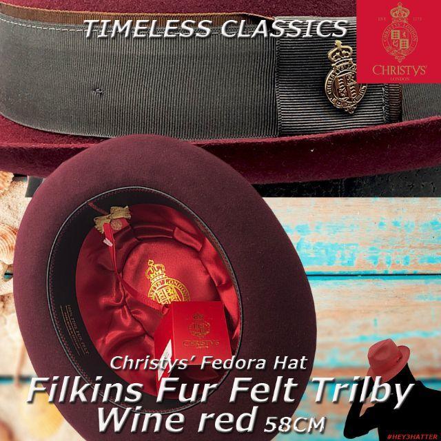 クリスティーズ★フィルキンズ・ファー・トリルビー58CM【ラビットファー】 メンズの帽子(ハット)の商品写真