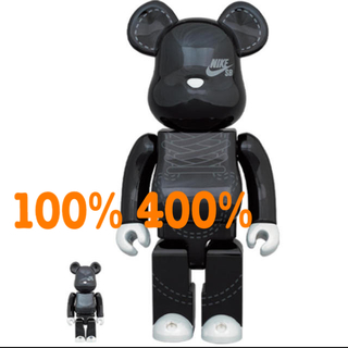 メディコムトイ(MEDICOM TOY)のBE@RBRICK NIKE SB 2020 BLACK 100% & 400%(その他)