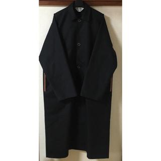 サンシー(SUNSEA)の新品未使用 サイズ2 SUNSEA OVER COAT BLACK(ステンカラーコート)