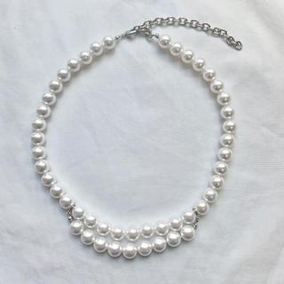 コムデギャルソン(COMME des GARCONS)のchangeable pearl necklace 2way  pearl(ネックレス)