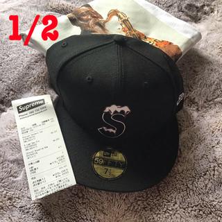 シュプリーム(Supreme)の【送料込7 1/2黒k】シュプリーム new era black 7 1/2(キャップ)