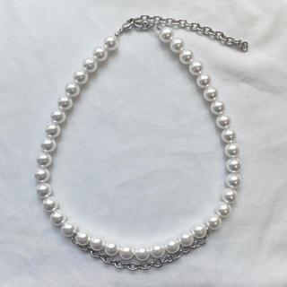 コムデギャルソン(COMME des GARCONS)のchangeable pearl necklace 2way chain(ネックレス)