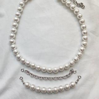 コムデギャルソン(COMME des GARCONS)のchangeable pearl necklace 3way (ネックレス)