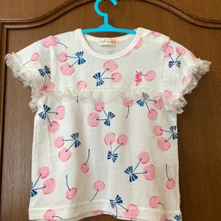 ニットプランナー(KP)の新品未着用KPの可愛いさくらんぼ柄Tシャツサイズ80(Tシャツ)