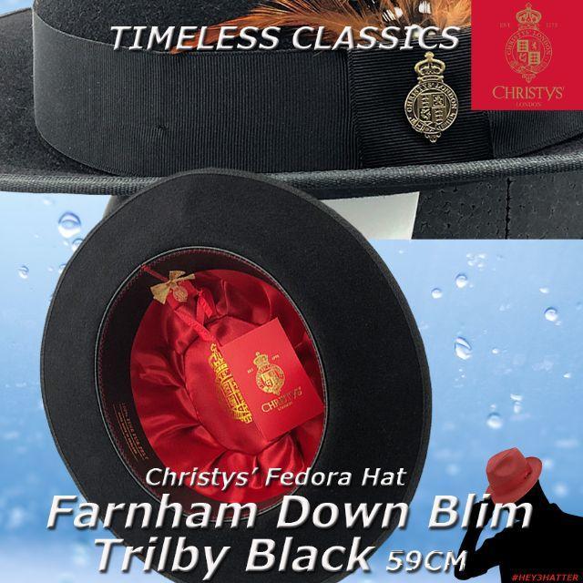 Borsalino(ボルサリーノ)のクリスティーズ★ファーナム・ダウンブリム・トリルビー59CM【ラビットファー】 メンズの帽子(ハット)の商品写真