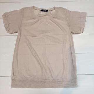 ミスティック(mystic)のミスティック メッシュトップス ベージュ(Tシャツ(半袖/袖なし))