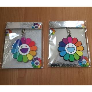 【2個セット】村上隆 カイカイキキ レインボー クリア キーホルダー 2種 新品(キーホルダー)