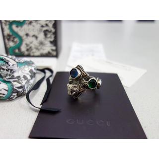グッチ(Gucci)の本物 GUCCI ストーン リング 19号 メンズ M サイズ 石 アニマル(リング(指輪))