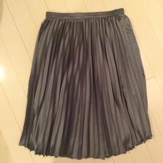 ルシェルブルー(LE CIEL BLEU)のルシェルブループリーツスカート(ひざ丈スカート)