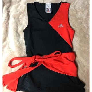 アディダス(adidas)のアディダス赤×黒Sヨガジム美品タンクトップレッドadidas(ヨガ)