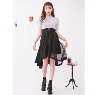 イートミー(EATME)のEAT ME アシンメトリーイレヘムスカート 新品 美品 即購入OK(ひざ丈スカート)