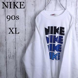 ナイキ(NIKE)の【鬼レア】 ナイキ 90s 銀タグ 4連 ゴツナイキ 染込み スウェット XL位(スウェット)
