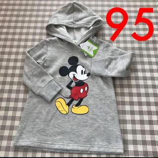ディズニー(Disney)の新品タグ付き ディズニーベビー ミッキー トレーナー 裏起毛 95(ニット)