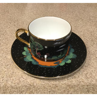 フランシュリッペ(franche lippee)のフランシュリッペ ブラック カップ&ソーサー 3匹のこぶた オリプリ 未使用(グラス/カップ)