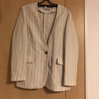 ルクールブラン(le.coeur blanc)のレディースノーカラージャケット(ノーカラージャケット)