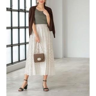 スタイルデリ(STYLE DELI)のカットワークコットンレースフレアスカート定価¥8,580(ロングスカート)