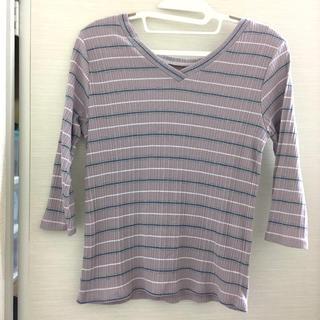 オゾック(OZOC)の OZOC 2wayボーダーTシャツ(Tシャツ(長袖/七分))