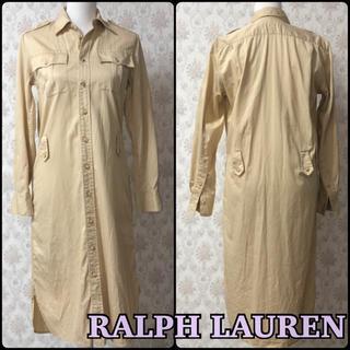 ラルフローレン(Ralph Lauren)のRALPH LAUREN 長袖シャツワンピース 美品(ロングワンピース/マキシワンピース)