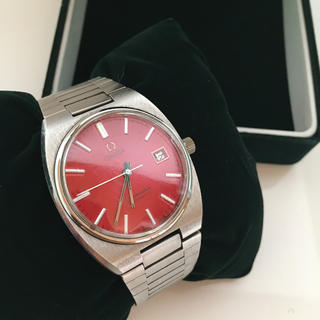 オメガ(OMEGA)のOMEGA オメガ シーマスター アンティークウォッチ 赤(腕時計)