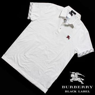 バーバリーブラックレーベル(BURBERRY BLACK LABEL)の新品バーバリーブラックレーベル クールマックス 半袖ポロシャツ 白 4(LL)(ポロシャツ)
