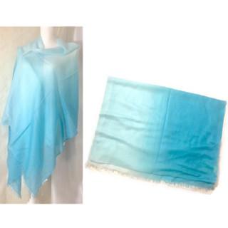 フルラ(Furla)の新品 シルク カシミヤ フルラ ブルー系 ストール グラデーション(ストール/パシュミナ)
