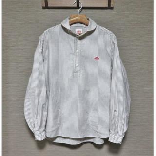 ダントン(DANTON)のDANTON プルオーバー シャツ 40 M メンズ ブラウン ストライプ (シャツ)